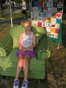 Zoe in The Green Chair